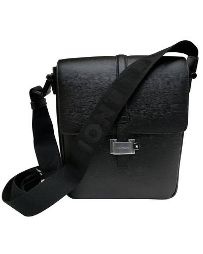 MONTBLANC 4810 Black Leather Unisex Westside Reporter 114682