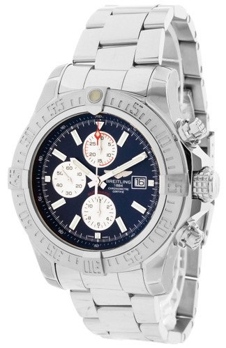 BREITLING Super Avenger II CHRONO 48MM Blue Dial Watch A13371111C1A1