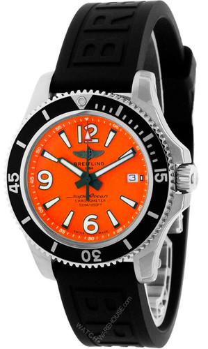 BREITLING Superocean 42MM AUTO Orange Dial Men's Watch A17366D7101S1