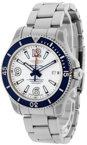 BREITLING Superocean 42MM AUTO SS White Dial Men's Watch A17366D81A1A1