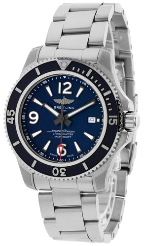 BREITLING Superocean 44MM AUTO SS Blue Dial Men's Watch A17367D81C1A1
