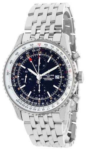 BREITLING Navitimer CHRONO GMT 46MM BLK Dial Men's Watch A24322121B2A1