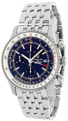 BREITLING Navitimer CHRONO GMT 46MM BLU Dial Men's Watch A24322121C2A1