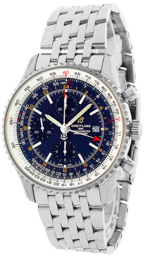 BREITLING Navitimer CHRONO GMT 46MM BLU Dial Men's Watch A24322121C2A1