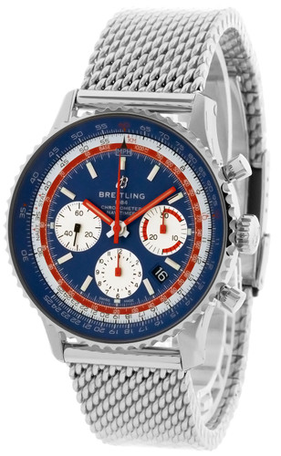 BREITLING Navitimer B01 43MM CHRONO Pan Am Edition Watch AB01212B1C1A1