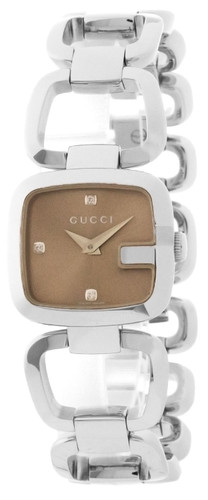 GUCCI 125 G- Series 25MM Brown Dial S-Steel Women's Watch YA125503