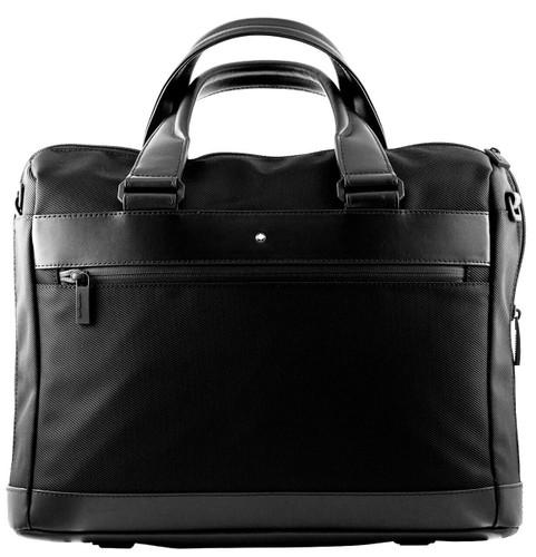MONTBLANC Nightflight Slim Black Fabric & Leather Document Case 118246