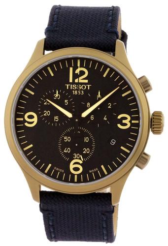Tissot Chrono XL Black Dial 45mm Blue Fabric Men's Watch T1166173705701