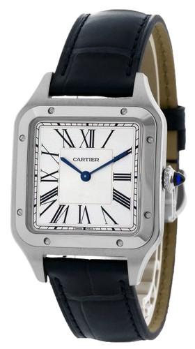 CARTIER Santos-Dumont 43.5MM x 31.4MM Silver Dial Men's Watch WSSA0022