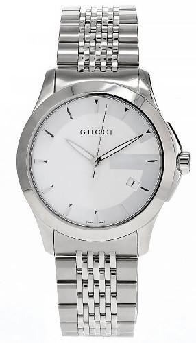 GUCCI G Timeless 38MM Silver Dial Quartz Men's Watch YA126401