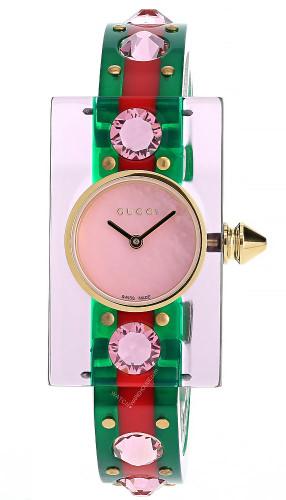 GUCCI Vintage Web 24MMx40MM Pink MOP Dial Women's Watch YA143525