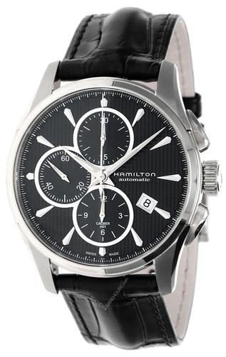 HAMILTON Jazzmaster 42MM AUTO Chronograph Leather Watch H32596731