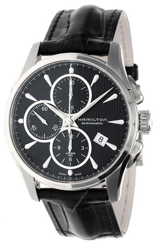 HAMILTON Jazzmaster 42MM AUTO Chronograph Leather Watch H32596731