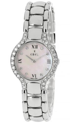 EBEL Beluga 27MM Quartz Diamond Mother of Pearl Dial Watch E9157428-20