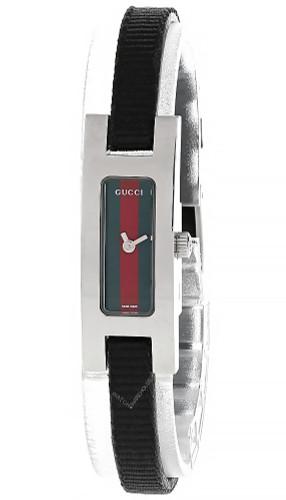 GUCCI Quartz Red Green Dial Black Fabric Watch (SCRATCHED) 3900L-23960
