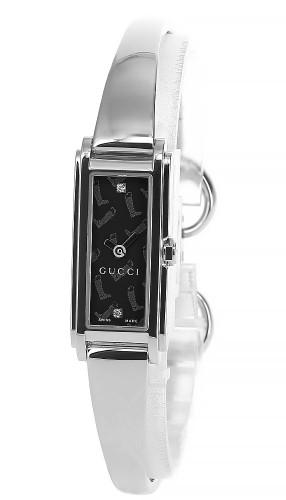 GUCCI 109 Series 22MMx15MM SS 2-Diamond BLK Dial Women's Watch YA109505