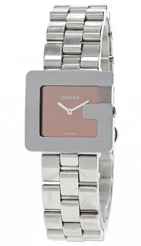 GUCCI Stainless Steel G Shape Rose Dial Women's Watch 3605J-23675