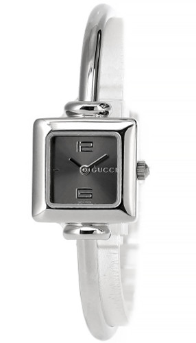 GUCCI Quartz Stainless Steel Gray Dial Bangle Women's Watch YA019511