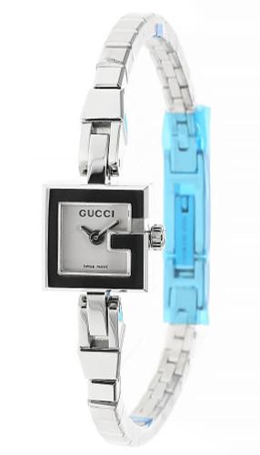 GUCCI G-Shape Stainless Steel WHT Dial Bracelet Women's Watch YA102353