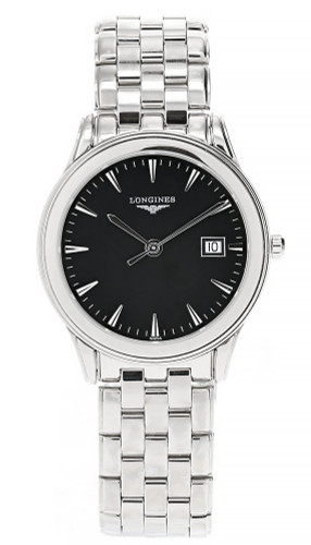 LONGINES Flagship 35.4MM Stainless Steel Black Dial Men's Watch L4.716.4.52.6