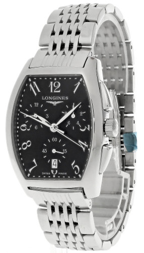 LONGINES Evidenza CHRONO Quartz SS Black Dial Men's Watch L26564716
