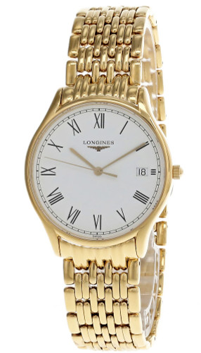 LONGINES Flagship 35MM White Dial Gold Plated Unisex Watch L47592118