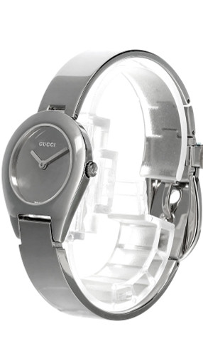 GUCCI Bangle Stainless Steel Silver Dial Women's Bracelet Watch 6700L