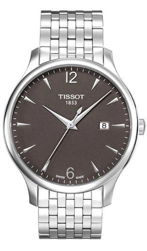 TISSOT Tradition 42MM Anthracite Dial Steel Men's Watch T0636101106700