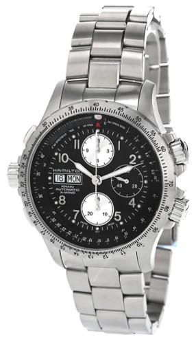 HAMILTON Khaki Aviation X Wind 44MM CHRONO SS Men's Watch H77616133