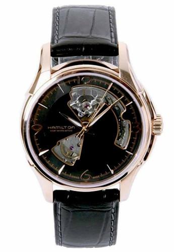HAMILTON Jazzmaster Open Heart RoseGold PVD AUTO Men's Watch H32575735