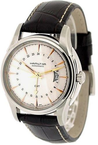 HAMILTON Jazzmaster Traveler GMT Leather AUTO Men's Watch H32585557