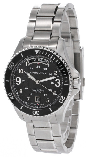 HAMILTON Khaki King 41MM Automatic SS Black Dial Men's Watch H64515133
