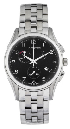 Hamilton Jazzmaster 43mm CHRONO SS Black Dial Men's Watch H38612133