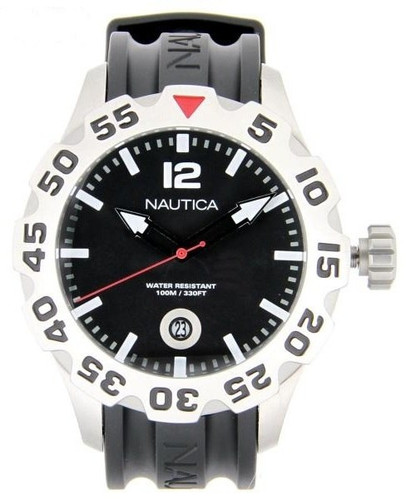 Nautica BDF 100 Black Resin Band Men's Watch N14600G