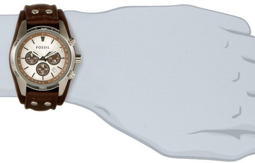 d14ee1bc8 Ch2565 Fossil Mens Cuff Chronograph Brown Leather Watch
