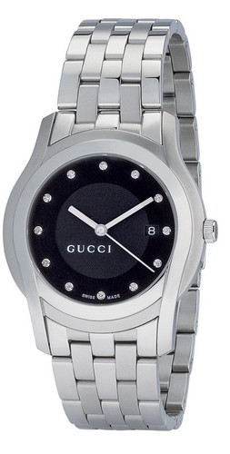 Gucci  5505 Stainless Steel 38MM Black Men's Watch YA055213