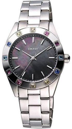 DKNY Glitz Colored Crystals Mother of Pearl Dial Women's Watch NY8718