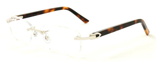 Cartier T8101079 C Decor Combined 51mm Men's Prescription Eyeglasses