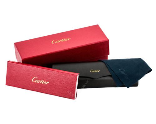 a8fa1ca0e73e6 T8200913 Cartier Trinity Brenice 55mm Blue Composite Frame Sunglasses