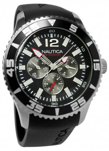 Nautica NST 07 Multifunction Black Rubber Band Men's Watch N11086G