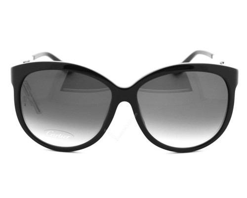 Cartier Trinity Black Composite Gray Lens Women's Sunglasses T8201072