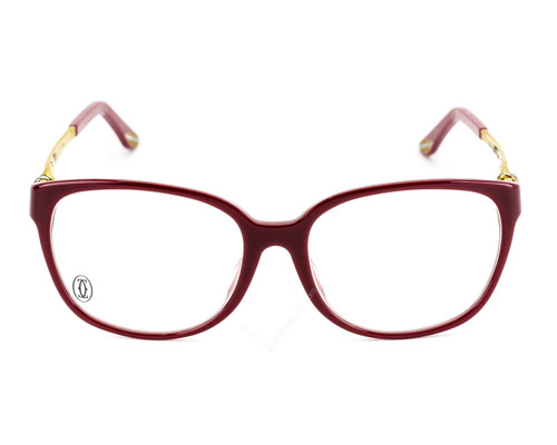 Cartier Trinity Burgundy Gold Metal Women's Optical Glasses EYE00029