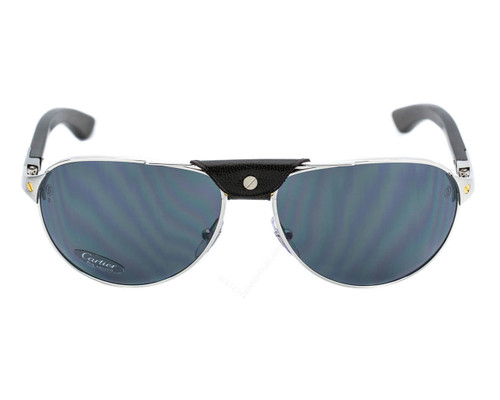 Cartier Santos Wood Pilot Polarized Lens Men's Sunglasses T8200864