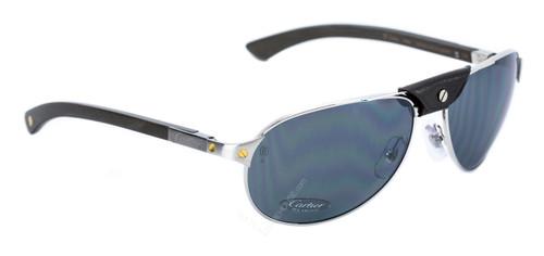 15ee1968c8 T8200864 Cartier Santos Wood Pilot Gray Polarized Lens Men s Sunglasses
