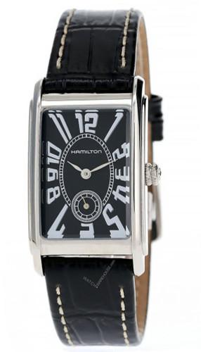 HAMILTON Ardmore 23MM Black Dial Women's Watch H11411733-OPEN BOX