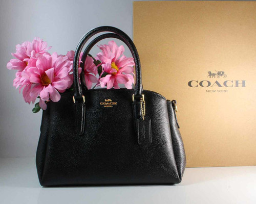 Coach Crossgrain Mini Sage Carryall Black Leather 225271JAX / F28977