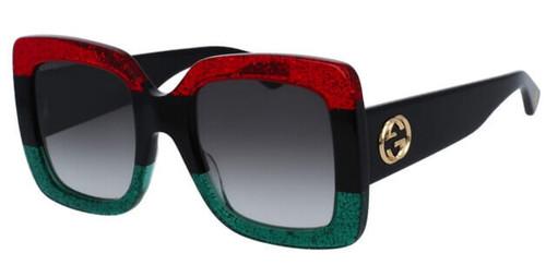 Gucci Grey Gradient Square Women's Sunglasses GG0083S 001 55-24-140