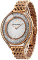 SWAROVSKI Crystalline Rose Gold Aura White Silver Dial Watch 5519459