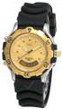 SEIKO Sports 150 Quartz Gold Dial Rubber Men's Watch GS012 Gold