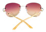 Cartier Trinity Two Tone Golden Pink Lens Women's Sunglasses ESW00051